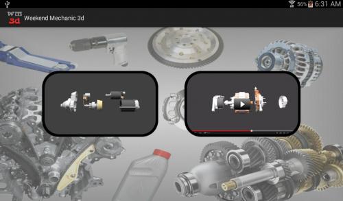 App เรียนรู้เรื่องรถ Weekend Mechanic 3d