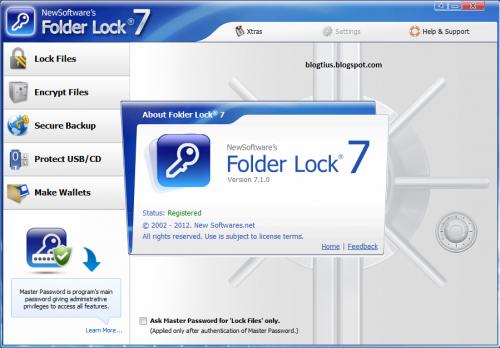 โปรแกรมล็อคโฟลเดอร์ Folder Lock