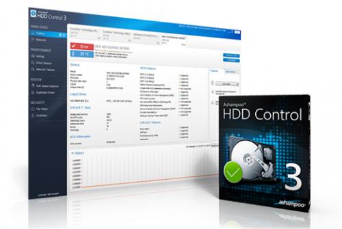 โปรแกรมตรวจฮาร์ดดิสก์ Ashampoo HDD Control