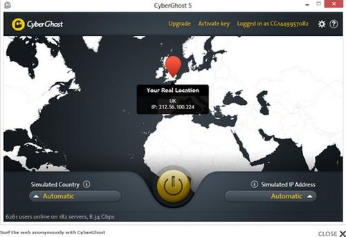โปรแกรม ซ่อนตัว เวลาเข้าอินเตอร์เน็ต CyberGhost VPN