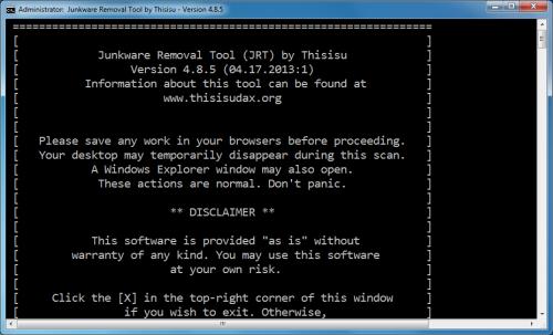 โปรแกรม Junkware Removal Tool