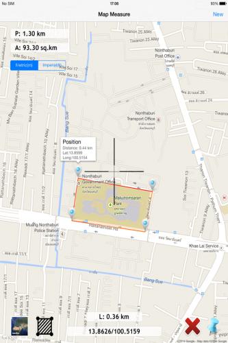 App วัดพื้นที่ Map Measure