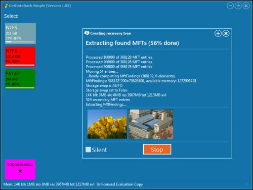 ดาวน์โหลดโปรแกรมกู้ข้อมูล GetDataBack Simple