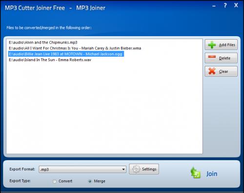 โปรแกรมตัดเพลง MP3 Cutter Joiner