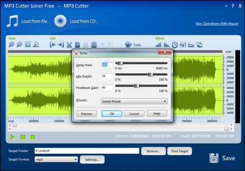 โปรแกรมตัดเสียง MP3 Cutter Joiner