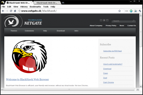 เว็บบราวเซอร์ BlackHawk Web Browser