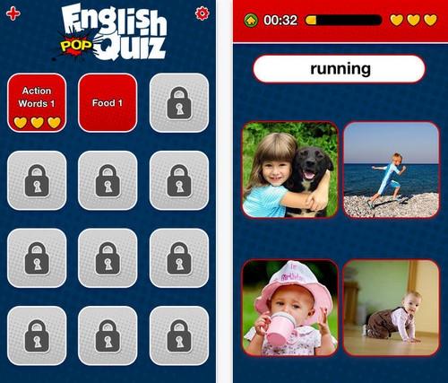 App เกมส์คำศัพท์ภาษาอังกฤษ Learn English Vocabulary Pop Quiz