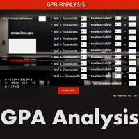 GPAanalysis (โปรแกรม GPAanalysis วิเคราะห์ คิดเกรดเฉลี่ย)