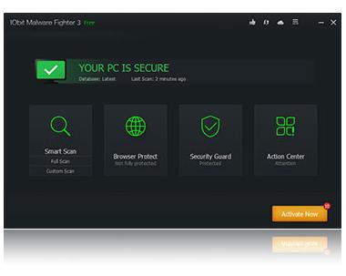 โปรแกรมลบมัลแวร์ IObit Malware Fighter