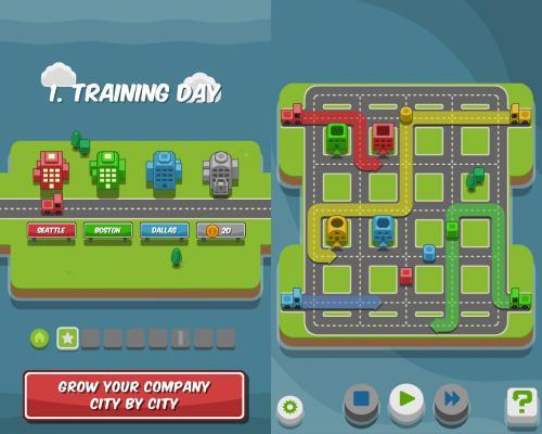 App เกมส์ขับรถส่งสี