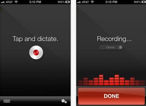 App เปลี่ยนคำพูดเป็นตัวอักษร Dragon Dictation