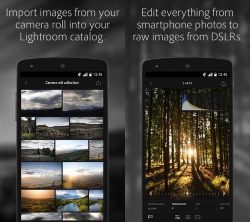 App ไลท์รูม Adobe Lightroom Mobile