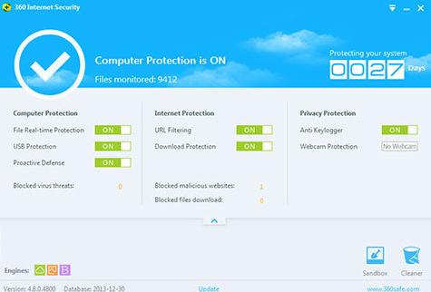 โปรแกรมแอนตี้ไวรัส 360 Internet Security
