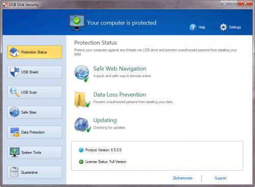 โปรแกรมสแกนแฟลชไดร์ฟ USB Disk Security