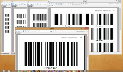 โปรแกรมพิมพ์บาร์โค้ด Free Barcode Printing