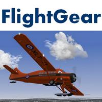 FlightGear (เกมส์จำลองขับเครื่องบินโดยสาร  Flight Simulator ฟรี) :
