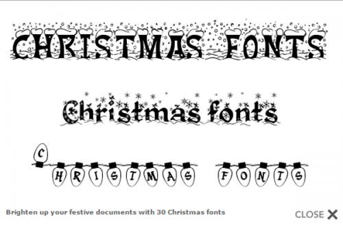 ดาวน์โหลดโปรแกรม 30 Christmas Fonts