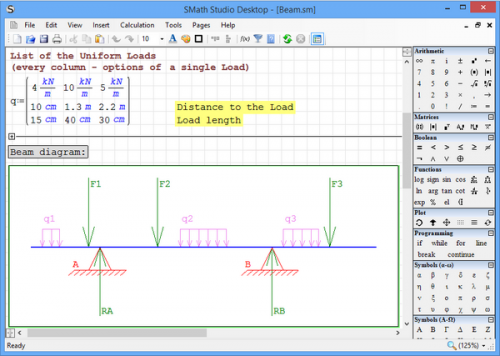 โปรแกรมคิดเลข คำนวณคณิตศาสตร์ SMath Studio