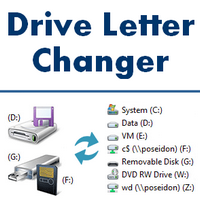 Drive Letter Changer (โปรแกรมเปลี่ยนชื่อไดร์ฟ หรือ ลำดับ Driver Letter ใหม่)