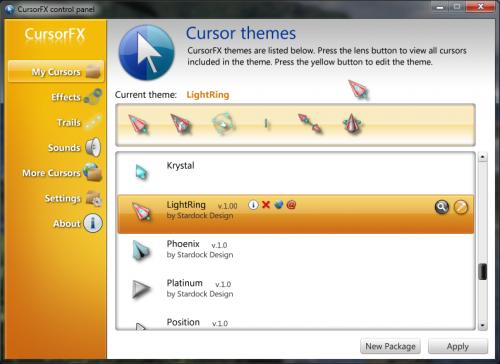 โปรแกรมเปลี่ยนปุ่มเมาส์ CursorFX