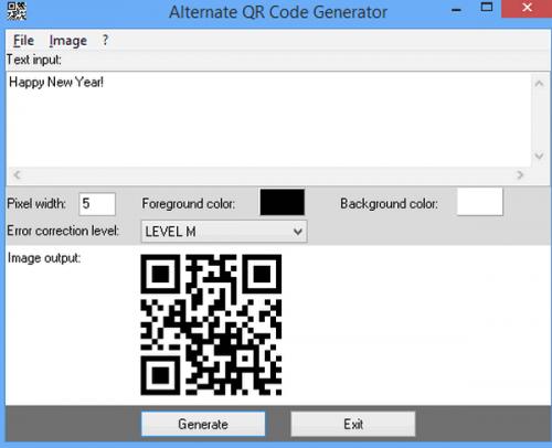 ดาวน์โหลดโปรแกรม Alternate QR Code Generator