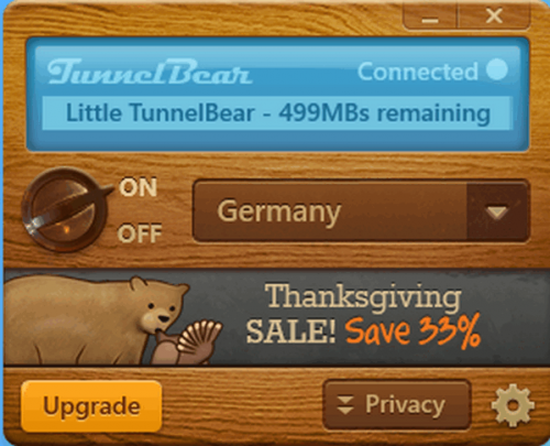ดาวน์โหลดโปรแกรม TunnelBear