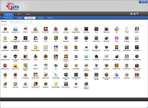 โปรแกรมตั้งค่าวางระบบร้านอินเตอร์เน็ตค่าเฟ่ iCafé MaVin