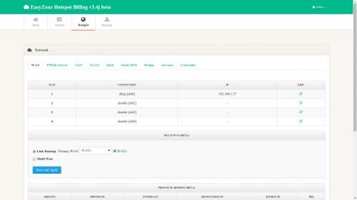 โปรแกรมจัดการอินเทอร์เน็ต EasyZone Hotspot Billing