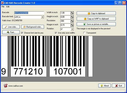 โปรแกรมสร้างบาร์โค้ด Barcode Creator
