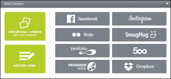 โปรแกรมสร้างภาพเคลื่อนไหว ProShow Web