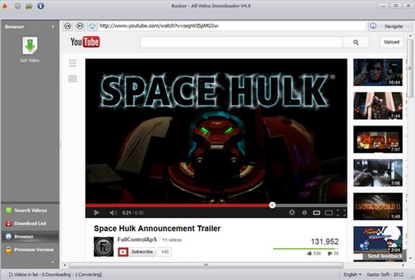 โปรแกรมช่วยโหลดคลิปวีดีโอ Kastor All Video Downloader