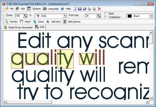 โปรแกรมแก้ไขไฟล์สแกน Scanned Text Editor