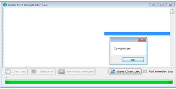 โปรแกรมช่วยดาวน์โหลดเพลง Quick MP3 Downloader