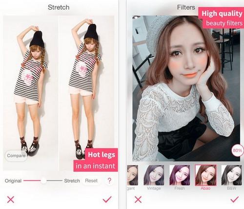 App ตกแต่งภาพ ขาวใสออร่า BeautyPlus