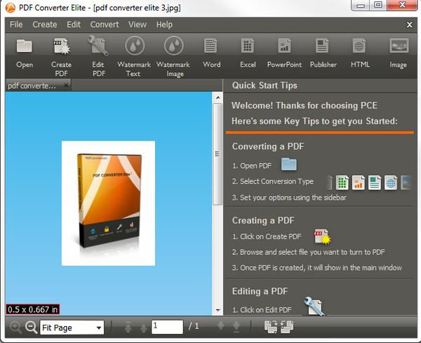 โปรแกรมแปลงไฟล์ PDF Converter Elite 3
