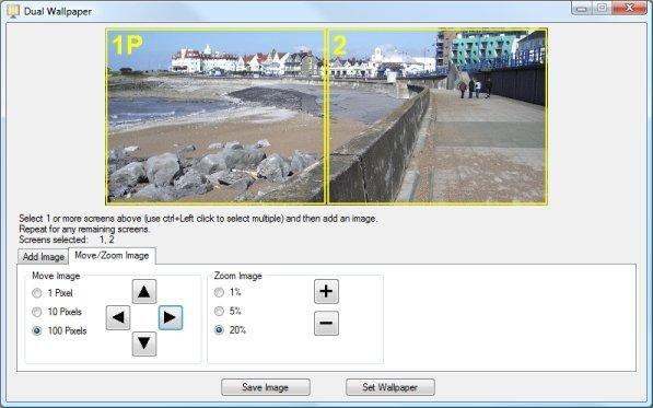 โปรแกรมควบคุม 2 หน้าจอ Dual Monitor Tools