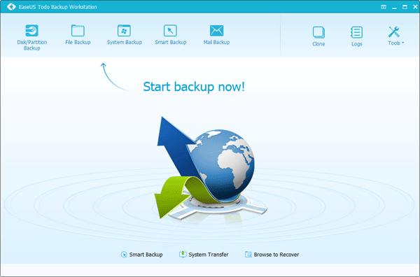 โปรแกรมสำรองข้อมูล EaseUS Todo Backup Workstation