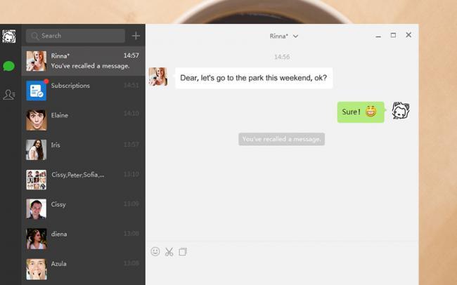 โปรแกรมแชท WeChat for PC