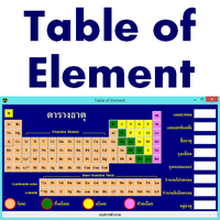 Table of Chemical Element :