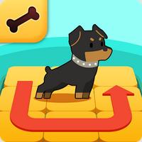 Puppy Flow Mania (App เกมส์ Puppy Flow Mania นำทางน้องหมาหาของกิน) :