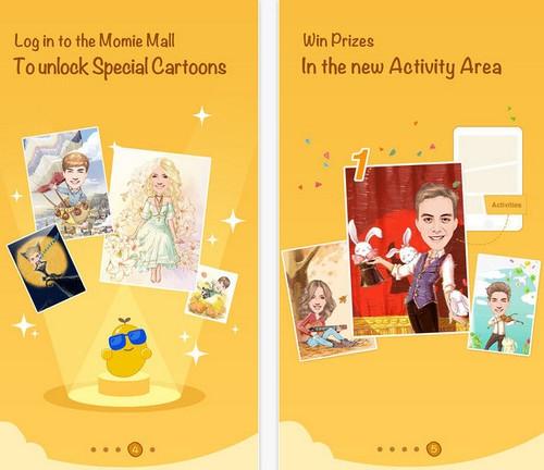 App แต่งรูป การ์ตูนล้อเลียน MomentCam