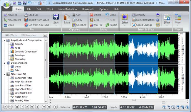 โปรแกรมทำเพลง Music Editor Free