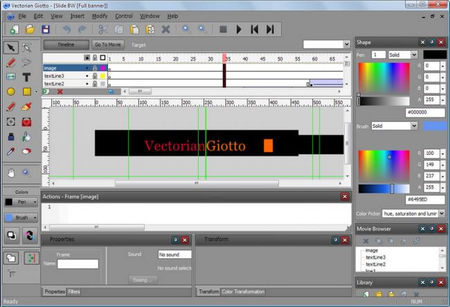 โปรแกรมออกแบบอนิเมชั่น Vectorian Giotto