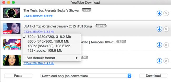 โปรแกรมดาวน์โหลดคลิป YouTube Downloader for Mac