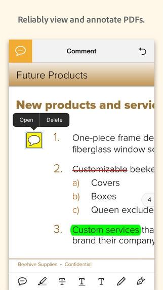 App เปิดไฟล์พีดีเอฟ Adobe Acrobat Reader for Mobile