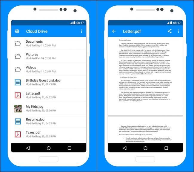 App ฝากไฟล์อเมซอน Amazon Cloud Drive