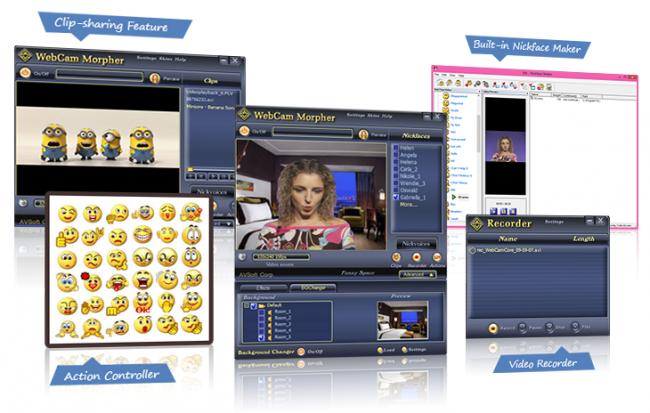 โปรแกรมเว็บแคม AV Webcam Morpher
