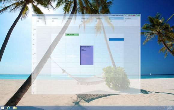 โปรแกรมปฏิทิน บนหน้าจอ Outlook on the Desktop