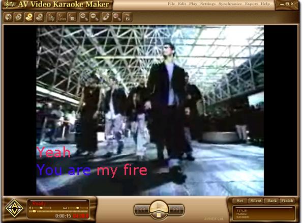 โปรแกรมสร้างคาราโอเกะ AV Video Karaoke Maker
