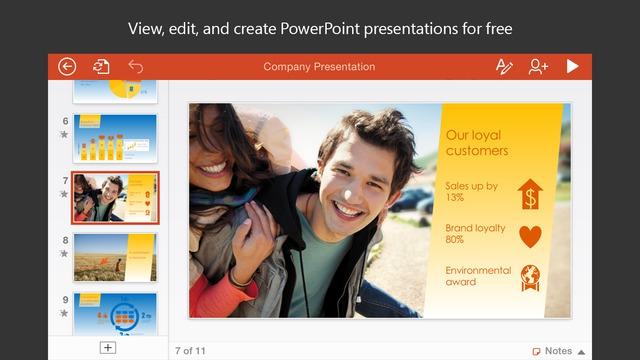 ดาวน์โหลดแอพ Microsoft PowerPoint